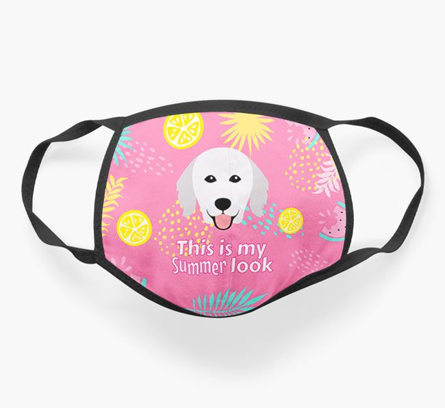 'This Is My Summer Look' - Face Mask with Hungarian Kuvasz Icon