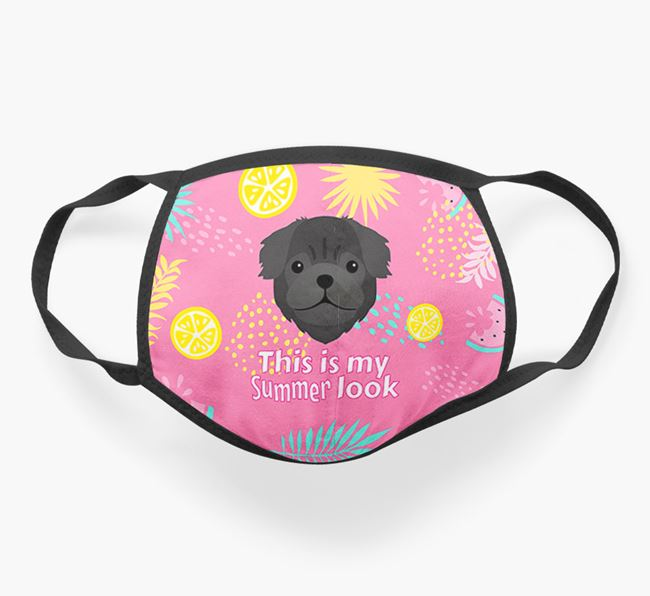 'This Is My Summer Look' - Face Mask with Pug Icon