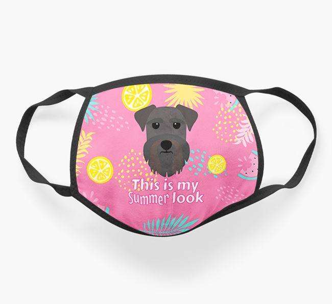 'This Is My Summer Look' - Face Mask with Schnauzer Icon