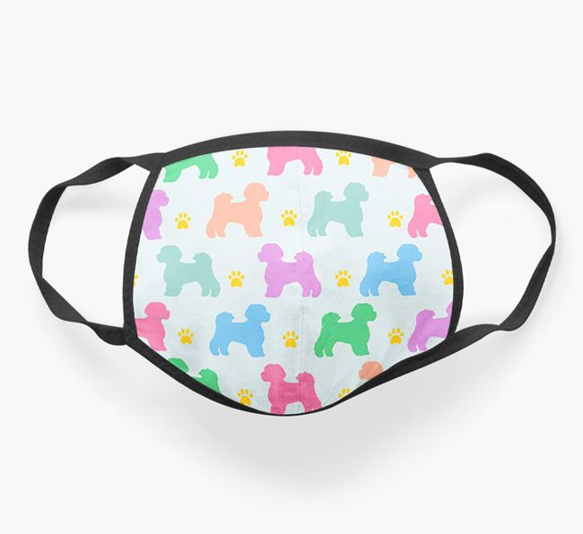 'Colorful Lachon Silhouette Pattern' Face Mask