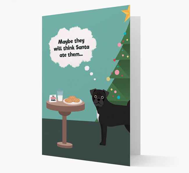 'Santa's Cookies' - Personalized Jug Christmas Card