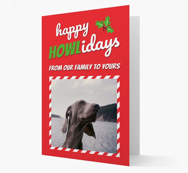 'Happy Holidays!' - Dog Photo Upload Christmas Card