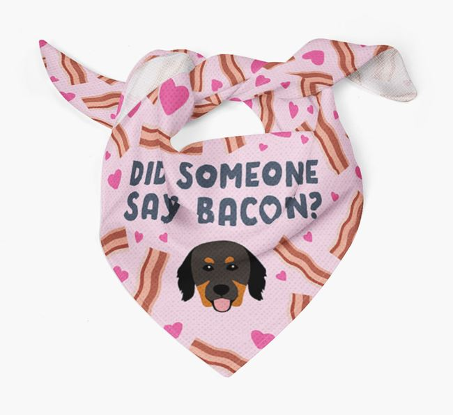'Did Someone Say Bacon?' Bandana for your Hovawart