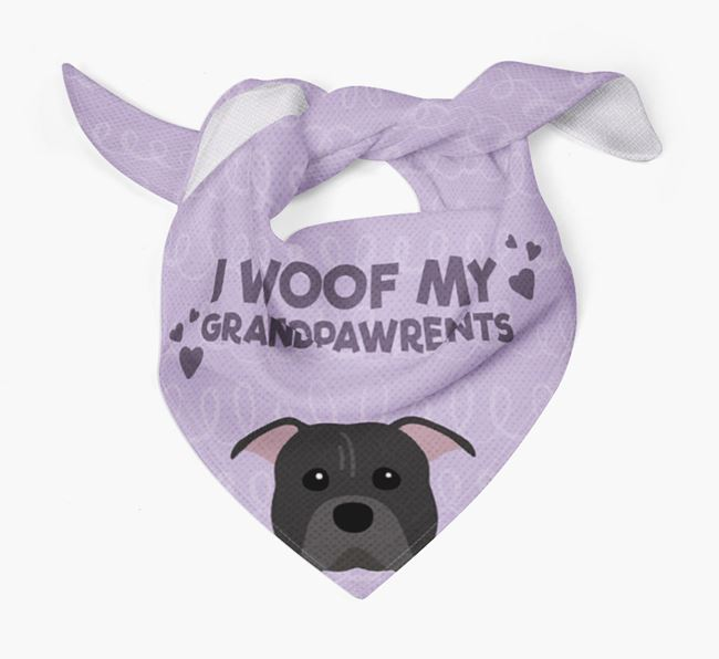'I Woof My Grandpawrents' Bandana for your American Pit Bull Terrier