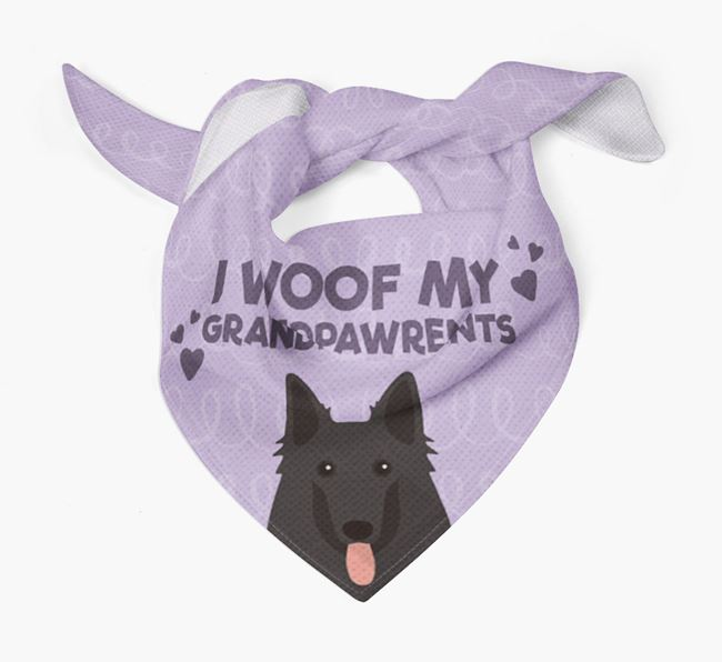 'I Woof My Grandpawrents' Bandana for your Belgian Groenendael