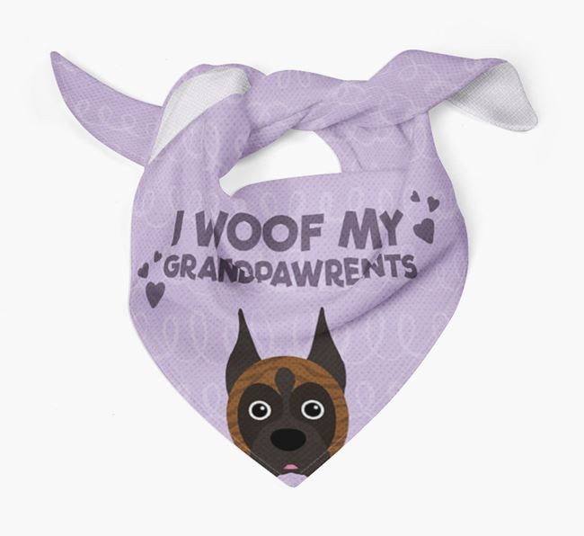 'I Woof My Grandpawrents' Bandana for your Boxer
