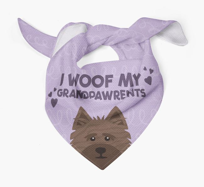 'I Woof My Grandpawrents' Bandana for your Cairn Terrier