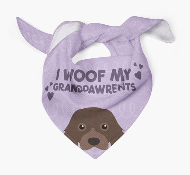 'I Woof My Grandpawrents' Bandana for your Cavalier King Charles Spaniel