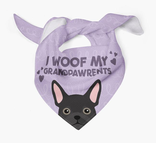 'I Woof My Grandpawrents' Bandana for your Frug