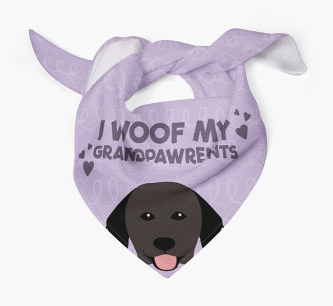 'I Woof My Grandpawrents' Bandana for your Hovawart