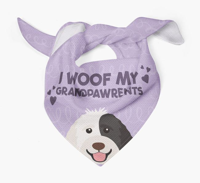 'I Woof My Grandpawrents' Bandana for your Labradoodle