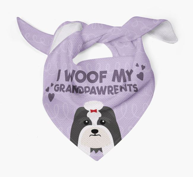 'I Woof My Grandpawrents' Bandana for your Lhasa Apso