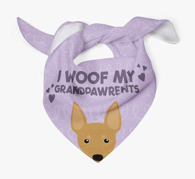 'I Woof My Grandpawrents' Bandana for your Miniature Pinscher