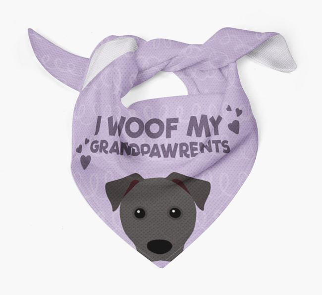 'I Woof My Grandpawrents' Bandana for your Patterdale Terrier