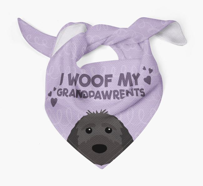 'I Woof My Grandpawrents' Bandana for your Sproodle