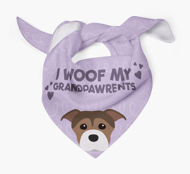 'I Woof My Grandpawrents' Bandana for your Staffordshire Bull Terrier