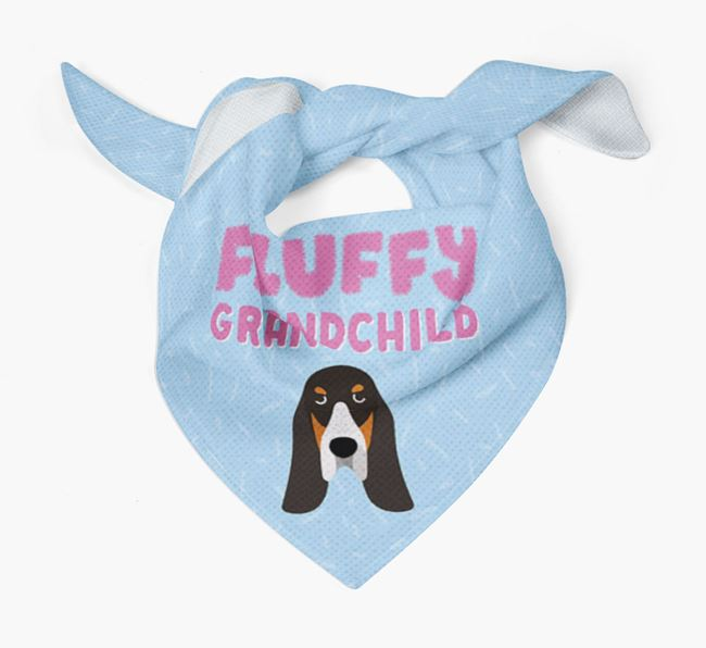 'Fluffy Grandchild' Bandana for your Basset Bleu De Gascogne
