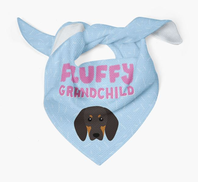 'Fluffy Grandchild' Bandana for your Black and Tan Coonhound