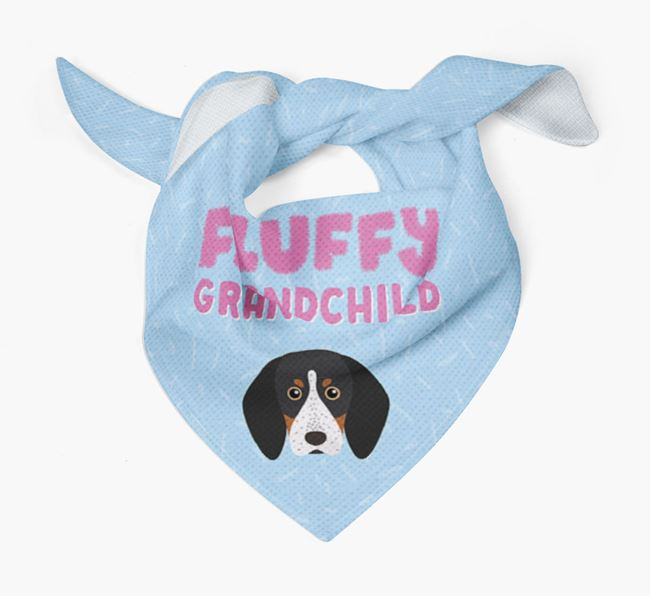 'Fluffy Grandchild' Bandana for your Bluetick Coonhound