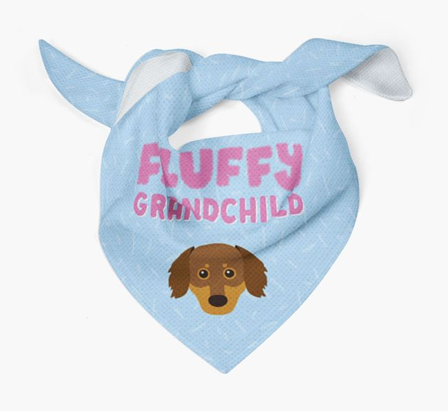 'Fluffy Grandchild' Bandana for your Chiweenie