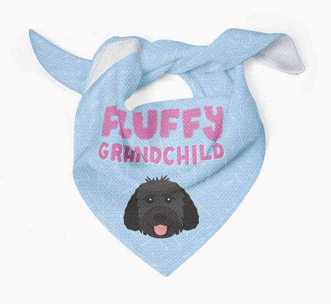'Fluffy Grandchild' Bandana for your Goldendoodle