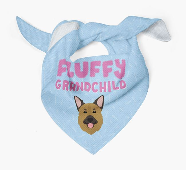 'Fluffy Grandchild' Bandana for your Golden Shepherd