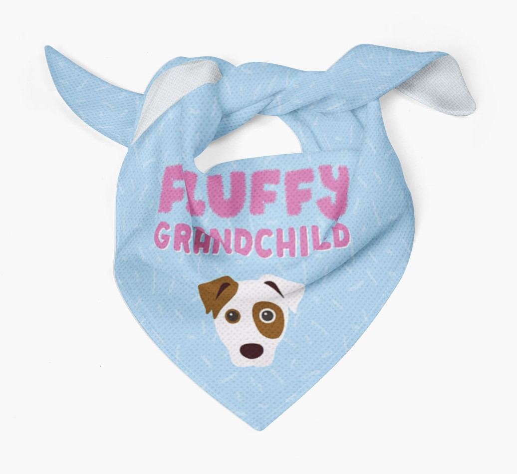 'Fluffy Grandchild' Bandana for your Dog Tied