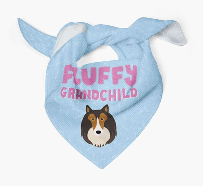 'Fluffy Grandchild' Bandana for your Rough Collie