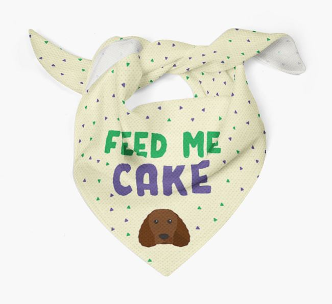 'Feed Me Cake' Bandana for your American Water Spaniel