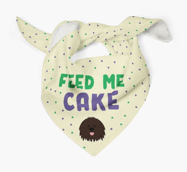 'Feed Me Cake' Bandana for your Bergamasco