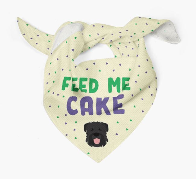 'Feed Me Cake' Bandana for your Black Russian Terrier