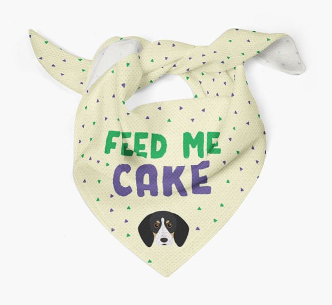 'Feed Me Cake' Bandana for your Bluetick Coonhound
