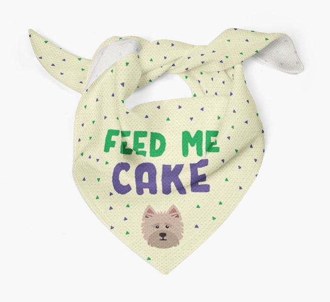 'Feed Me Cake' Bandana for your Cairn Terrier