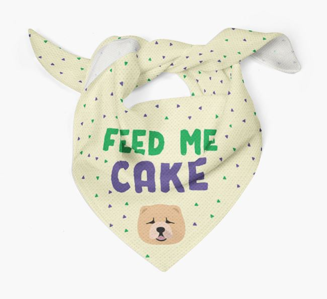 'Feed Me Cake' Bandana for your Chow Chow