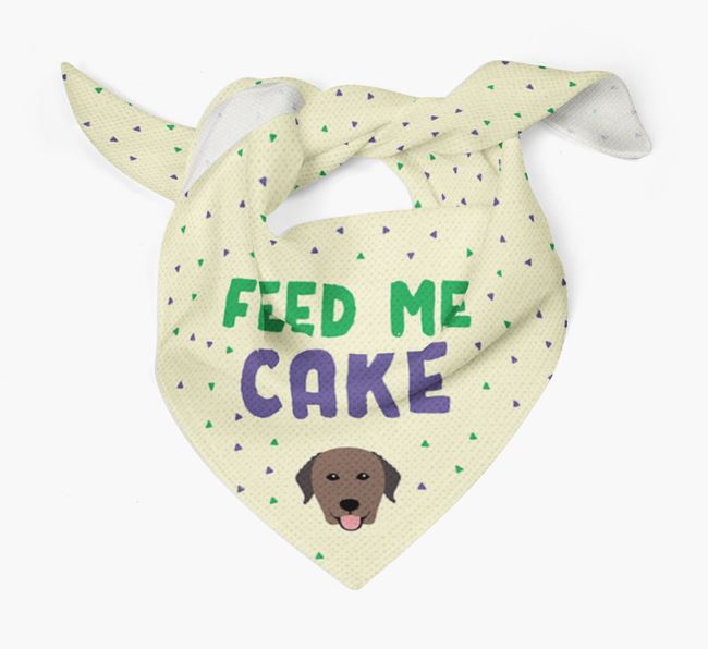 'Feed Me Cake' Bandana for your Curly Coated Retriever