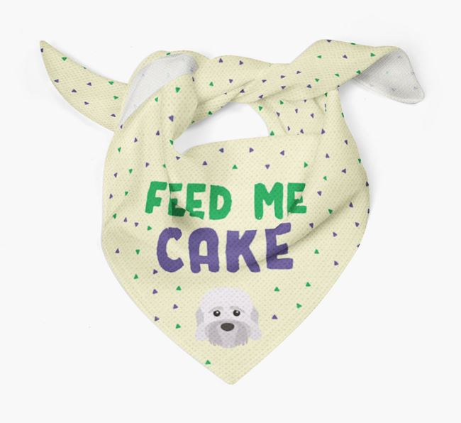 'Feed Me Cake' Bandana for your Dandie Dinmont Terrier