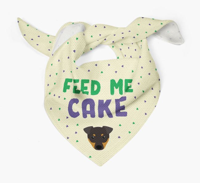 'Feed Me Cake' Bandana for your English Toy Terrier