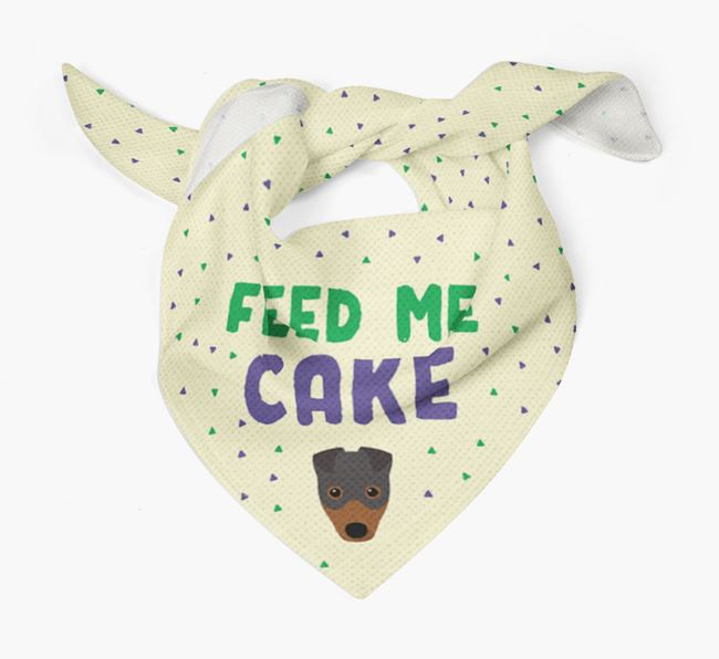 'Feed Me Cake' Bandana for your Fox Terrier