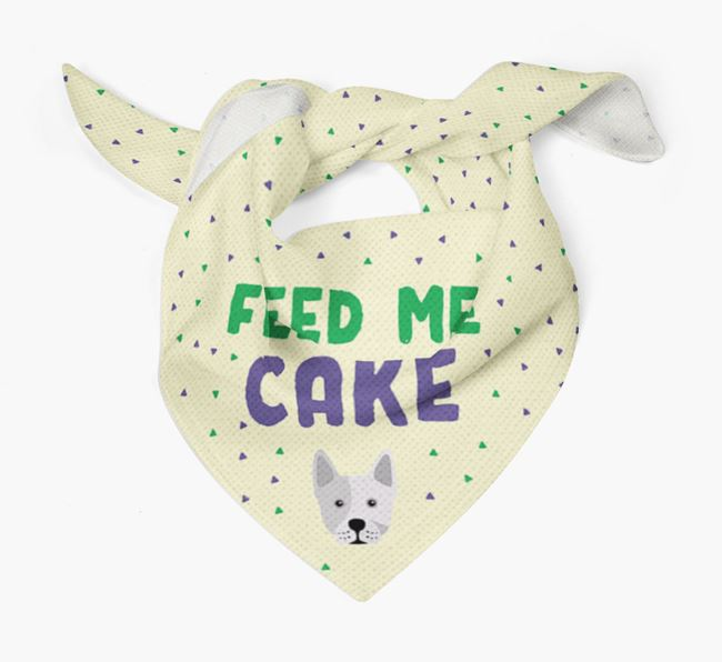 'Feed Me Cake' Bandana for your Frenchie Staff