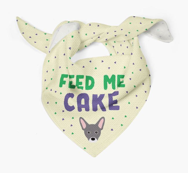 'Feed Me Cake' Bandana for your French Pin