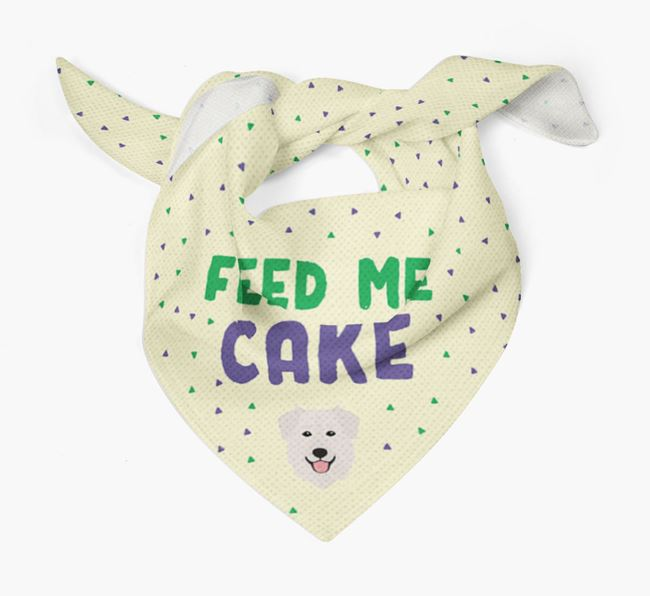 'Feed Me Cake' Bandana for your Golden Shepherd