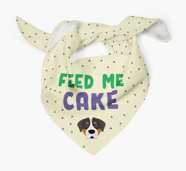 'Feed Me Cake' Bandana for your Greater Swiss Mountain Dog