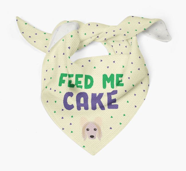 'Feed Me Cake' Bandana for your Hairless Chinese Crested