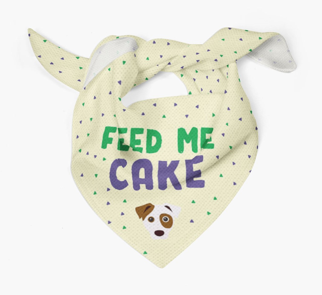 'Feed Me Cake' Bandana for your Dog Tied