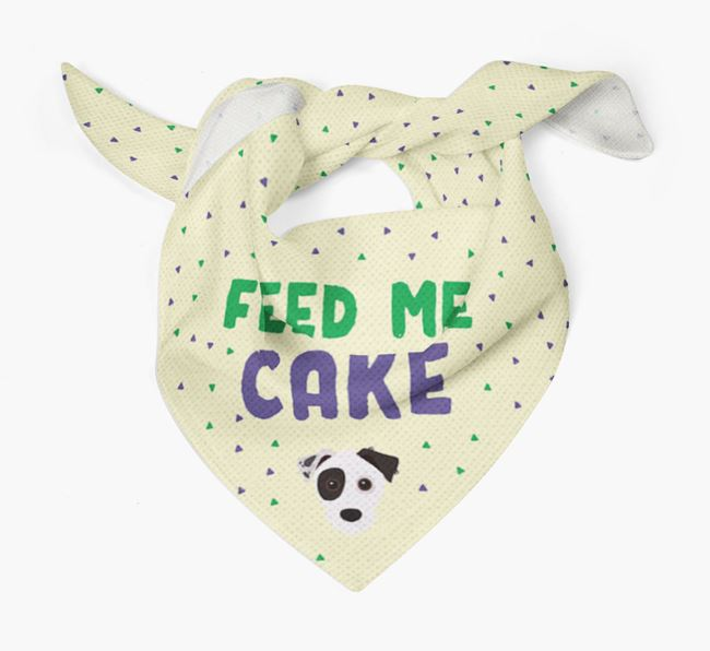 'Feed Me Cake' Bandana for your Jack Russell Terrier