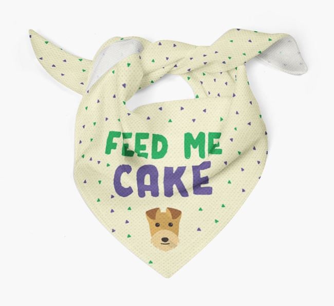 'Feed Me Cake' Bandana for your Lakeland Terrier
