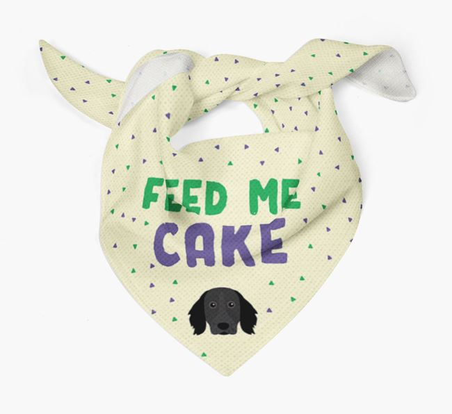'Feed Me Cake' Bandana for your Large Munsterlander