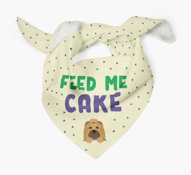 'Feed Me Cake' Bandana for your Lhasa Apso