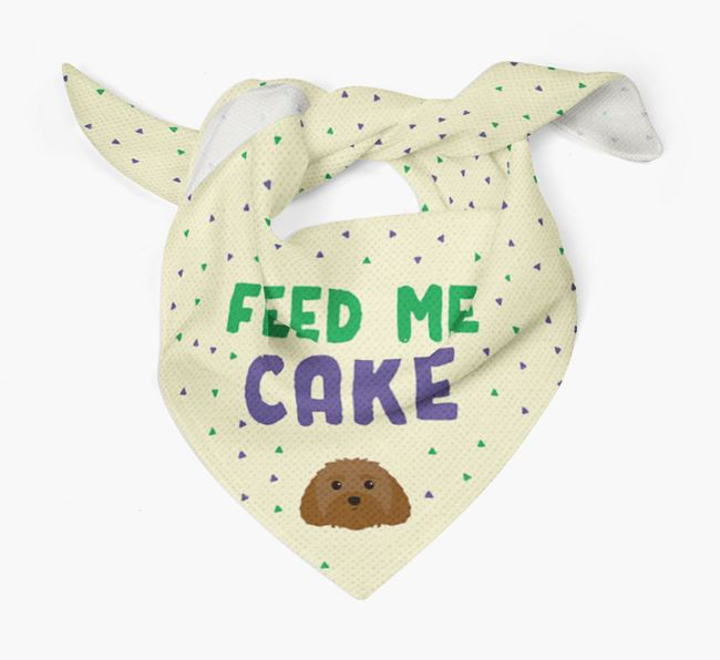 'Feed Me Cake' Bandana for your Malti-Poo