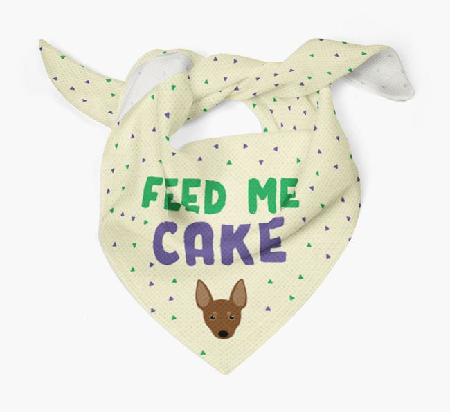 'Feed Me Cake' Bandana for your Miniature Pinscher